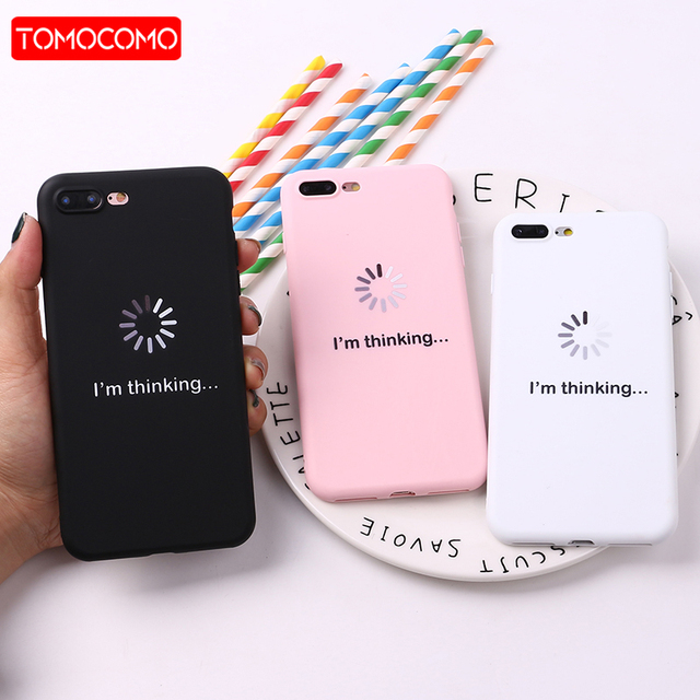 new concept 9eff6 b944f US $1.33 33% OFF| For iPhone 8 8Plus X 7 7Plus Soft TPU Silicone Matte Case  Girl Sticker Memes Cool Quote Funny Words For iPhone 6 6S 5 XS Max-in ...