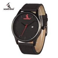 BOBO BIRD G15 Men Fashion Luxury Brand Quartz Watches Business Military Men Watches Leather Relogio Masculino