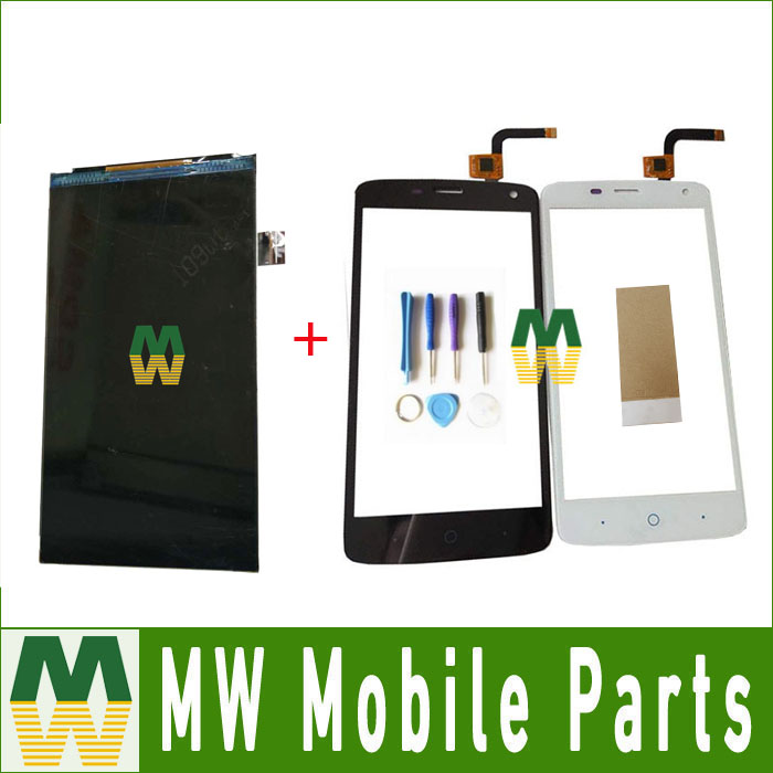 1PC/Lot High Quality For ZTE Blade L2 plus L370 SeperateTouch Screen Digitizer And Lcd Screen Display Black white Color