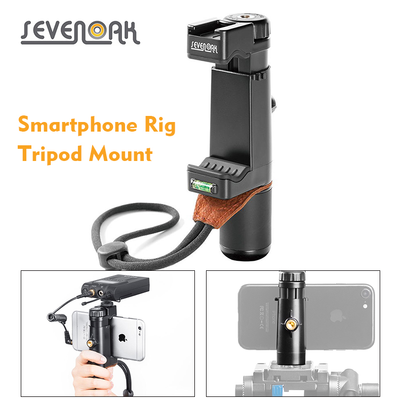 Ulanzi Professional Smartphone Rig Filmmaker Grip and Traveler Stand with Adjustable Grip Support Smartphone Photography