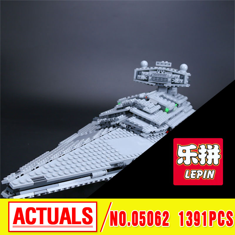 New 1391pcs Lepin 05062 Genuine Star Series The Star Destroyer Set 75055 Building Blocks Bricks Educational Toys War lepin 05062 genuine star series wars the star model destroyer set legoing 75055 building blocks bricks educational toys for gift