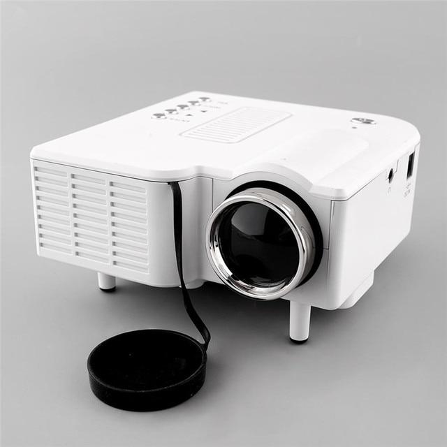 Mini Portable Home Cinema Theater 1080P HD LED Projector AV VGA HDMI US Adapter