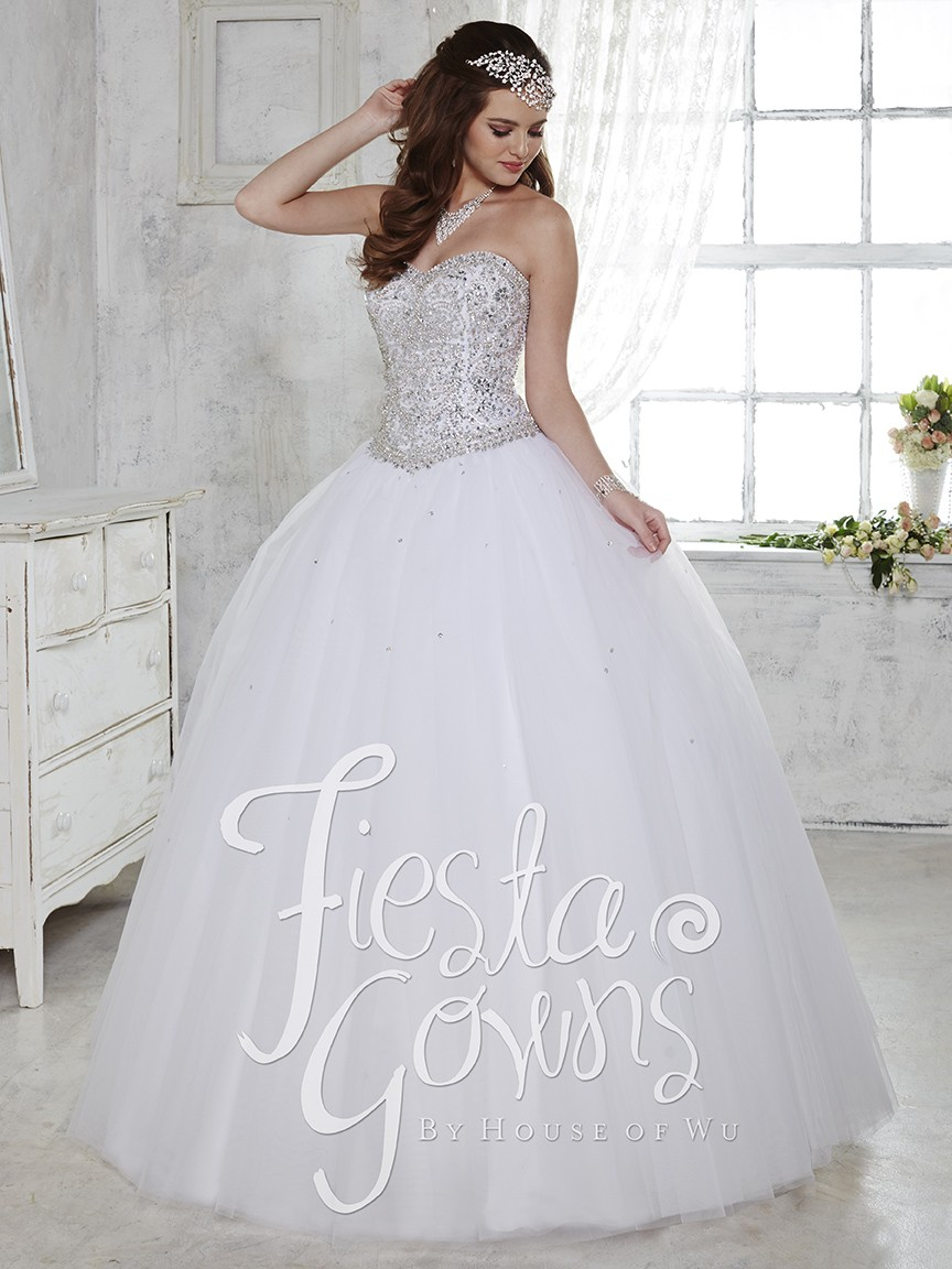 Purple White Quinceanera Dresses 2017 For 15 Year Tulle Organza ...