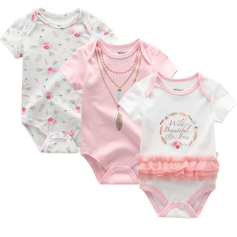 2021 3PCS/Lot Baby Boy Clothes BodysuIts Baby Girl Clothes Unicorn Girls Clothing Unisex 0-12M Baby Bodysuits Roupas de bebe 4