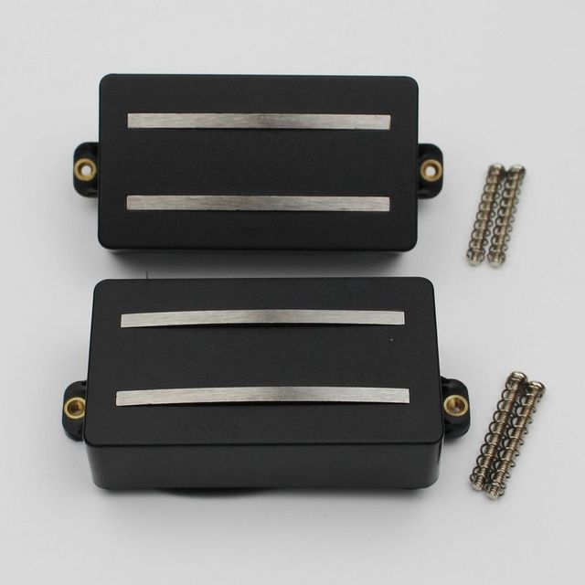 1 Set Alnico Rails Coil Double Pickup Replacement Parts for 6 String Electric Guitar or Precision Instruments (GDR Black)