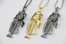 Модное ожерелье ZRM в виде рыбьей кости, Очаровательная серебристая, черная и золотистая цепочка, изящный лучший подарок, элегантные ювелирн...