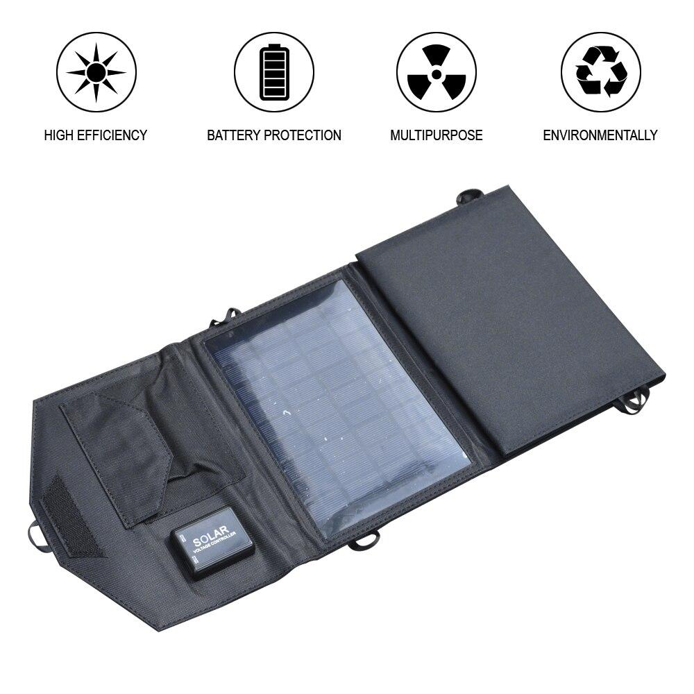 5V1A 5 W/7 W/14 W Panneau Solaire Portable Pliant Solaire Alimenté Chargeur De Secours Solaire Chargeur de Batterie pour Mobile Téléphone Électronique