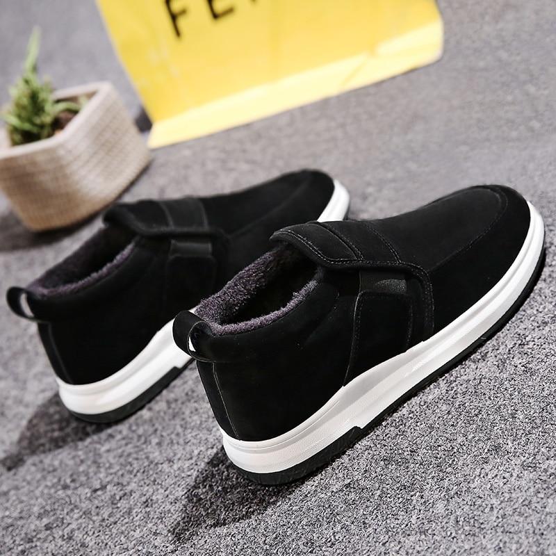 Un Pied Paresseux Plus de Velours Chaud chaussures en coton pour homme Hiver Hommes Chaussures Sauvage décontracté Hommes de Chaussures
