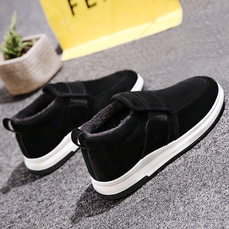 Un pied paresseux Plus velours chaud coton chaussures hiver chaussures pour hommes sauvage décontracté chaussures pour hommes