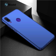 for Xiaomi Redmi Note 7 Back Cover Thin PC Classic Smooth Skin Matte Phone Case For Xiomi Note7 Shell