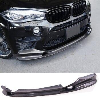 3-D Style Serat Karbon Depan Lip Spoiler Auto Body Cocok untuk BMW F85 X5M F86 X6M