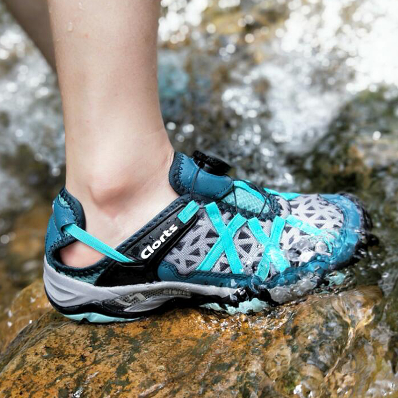Clorts Men Women Aqua Shoes BOA Quick-drying Outdoor Water Shoes EVA Wading Sneakers for Men 3H017 цена