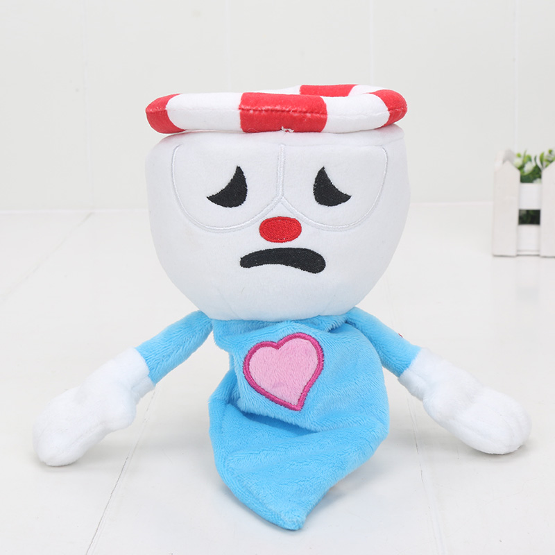 28cm Chalice Cuphead /& Plush Toy Mecup And Brocup Stuffed Doll Kids Gift