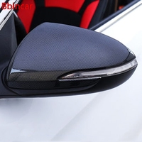 Bbincar Rearview Mirror Cover Chromium Styling Exterior ABS Chrome Carbon Fbiber Decoration Accessory 2017 For Hyundai