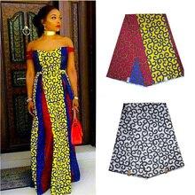 Fashion african nigerian ankara mauritania wax printed cotton fabric 100% cotton soft regular real veritable wax for women