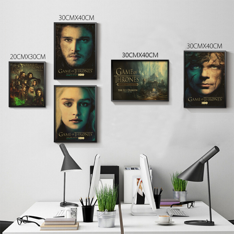 Retro Poster Retro anime Poster Game of Thrones Posters / kid cudi Poster/ Vintage Home Wall sticker Decor
