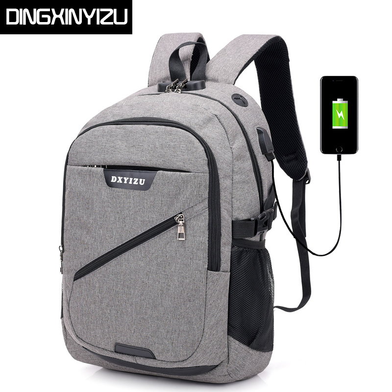 DINGXINYIZU Brand USB Charging 15.6inch Laptop Men Backpacks for Teenagers School Bags Casual Women Rucksack Travel Male Mochila new gravity falls backpack casual backpacks teenagers school bag men women s student school bags travel shoulder bag laptop bags