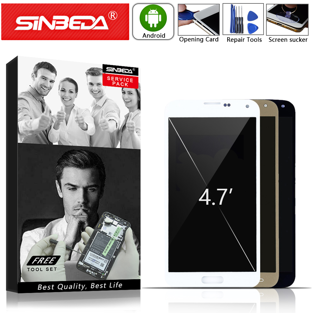 Sinbeda Super Amoled LCD Display For Samsung Galaxy S5 NEO G903 G903F G903M For Samsung S5 neo LCD Touch Screen Digitizer Glass