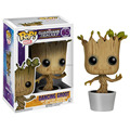 Marvel Hot Toys 10CM Funko PoP Dancing Groot Toy Guardians Of The Galaxy Vinyl Groot Toys