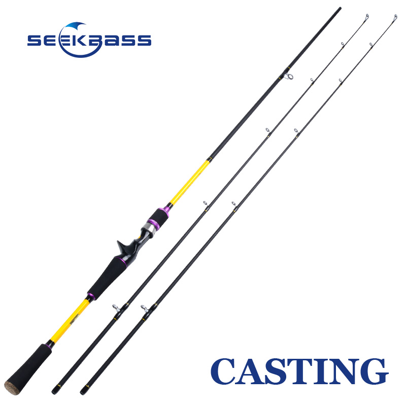 SEEKBASS 2.1m Spinning Casting Fishing Rod M ML Power 2 Tips 100% Carbon Lure Rod Fishing Tackle 72 High Quality LURE ROD