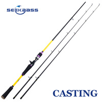 SEEKBASS 2 1m Spinning Casting Fishing Rod M ML Power 2 Tips 100 Carbon Lure Rod