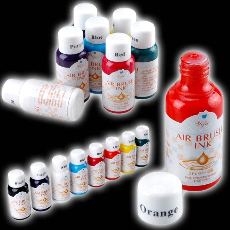 8 цветов каждый 30 мл Аэрограф краска ing дизайн Аэрограф для ногтей краски чернила