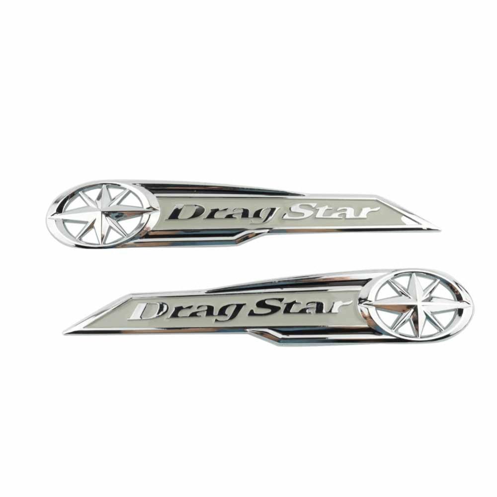 Motorcycle 3D Gas Tank//Faring side Emblem Badge Decal Stiker For Yamaha Dragstar XVS XV Custom Midnight Gold