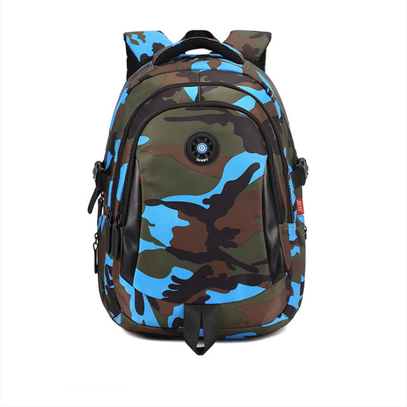 S M L Waterproof Nylon School Bags for Boys Girls Camouflage Printing Children Backpack Kids Bag