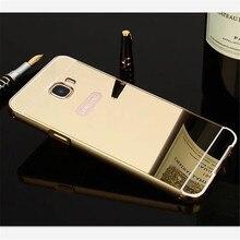 Для Samsung Galaxy J5 Премьер Случае Зеркало Задняя Крышка Алюминиевый Корпус металлический Каркас Телефон Сумки Случаи Coque Для Samsung Galaxy ON5 2016