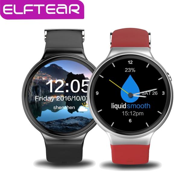 MTK6580 ELFTEAR I4 Android 5.1 OS Bluetooth Smart Watch Поддержка 3 Г WI-FI GPS Сердечного ритма Smartwatch СИМ-Карты ПК LEM5
