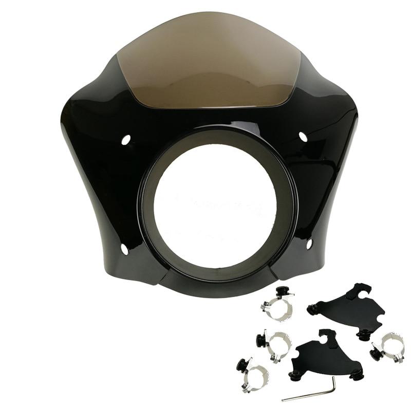 35mm-41mm Fork Bracket Trigger Lock Mount Gauntlet Headlight Fairing Visor For Harley Dyna / Sportster 883 1200 XL 1986-2016 black gauntlet headlight fairing w trigger lock mount kit for harley xl 1200 883 freeshipping d15