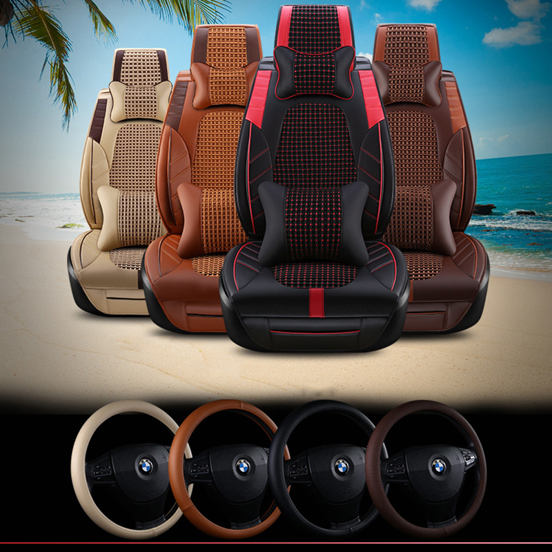 high quality Leather car seat cover for BMW e30 e34 e36 e39 e46 e60 e90 f10 f30 x1 x3 x4 x5 x6 automobiles accessories styling
