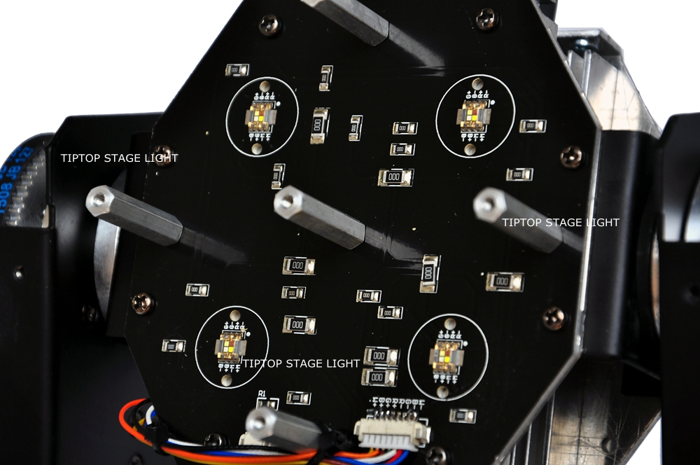 Freeshipping Two Sided 8*15W RGBW Led Moving Head Light Equip Mounting Clamp DMX 16/22 Channels Big Lens Smooth Beam Wash Effect