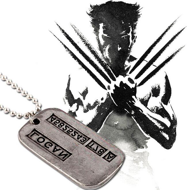 Hot Sale Wolverine Necklace Retro Vintage Antique Silver Plated Necklace Pendants Men Bead Chain Collar Action Toy For GIft 059