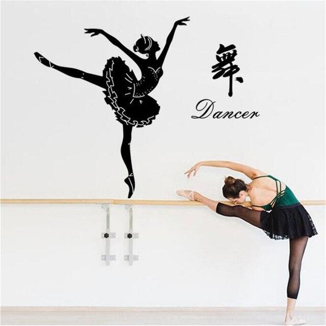 IDFIAF Ballerina Wall Sticker - Ballet Dancer Wall Decal - Ballerina Decor  - Ballet Silhouette Girls Dance Decal d4e97dbc680e