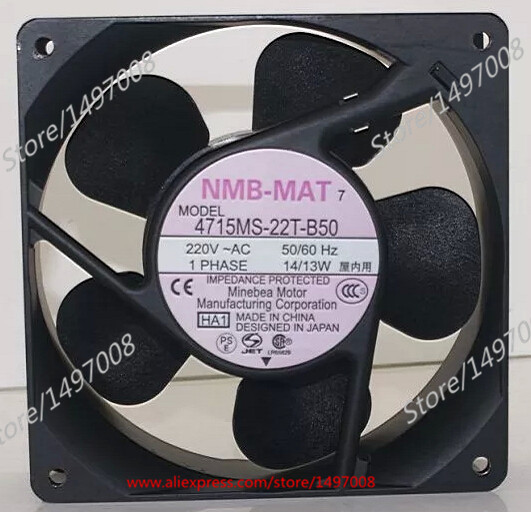 Free Shipping For  NMB 4715MS-22T-B50, HA1 AC 220V 14/13W 120X120X38mm Server Square Cooling fan
