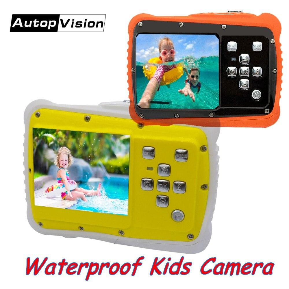 Waterproof Kids Camera 12MP HD Digital Video Camcorder Best Children Kids Gift Camera Sports Mini Camera for Swimming Underwater|Surveillance Cameras|   - title=
