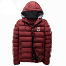 Brand Jackets Men Men's Winter Pants Down Jacket Warm Cotton Coats High Quality Washed Style Slim Fit Casual Luxury 2017 New