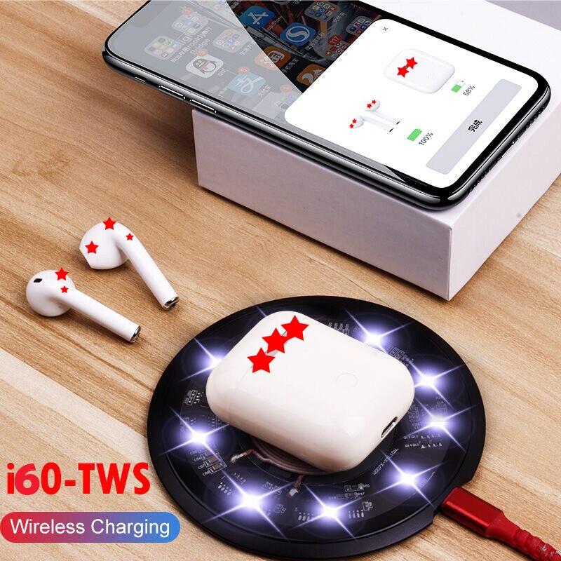 I60 TWS 1:1 réplique Air 2 Pop up Bluetooth 5.0 casque 6D basse contrôle tactile QI sans fil charge écouteur PK i80 i20 i30 i9 tws