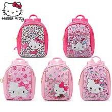Kawaii Hello Kitty Cartoon Pink Plush Backpack Lovely Cat Children 3D Bag Children Schoolbag Girls Small Kids Gifts Good Quality bedding set children s virginia secret hello kitty pink with покрывалом