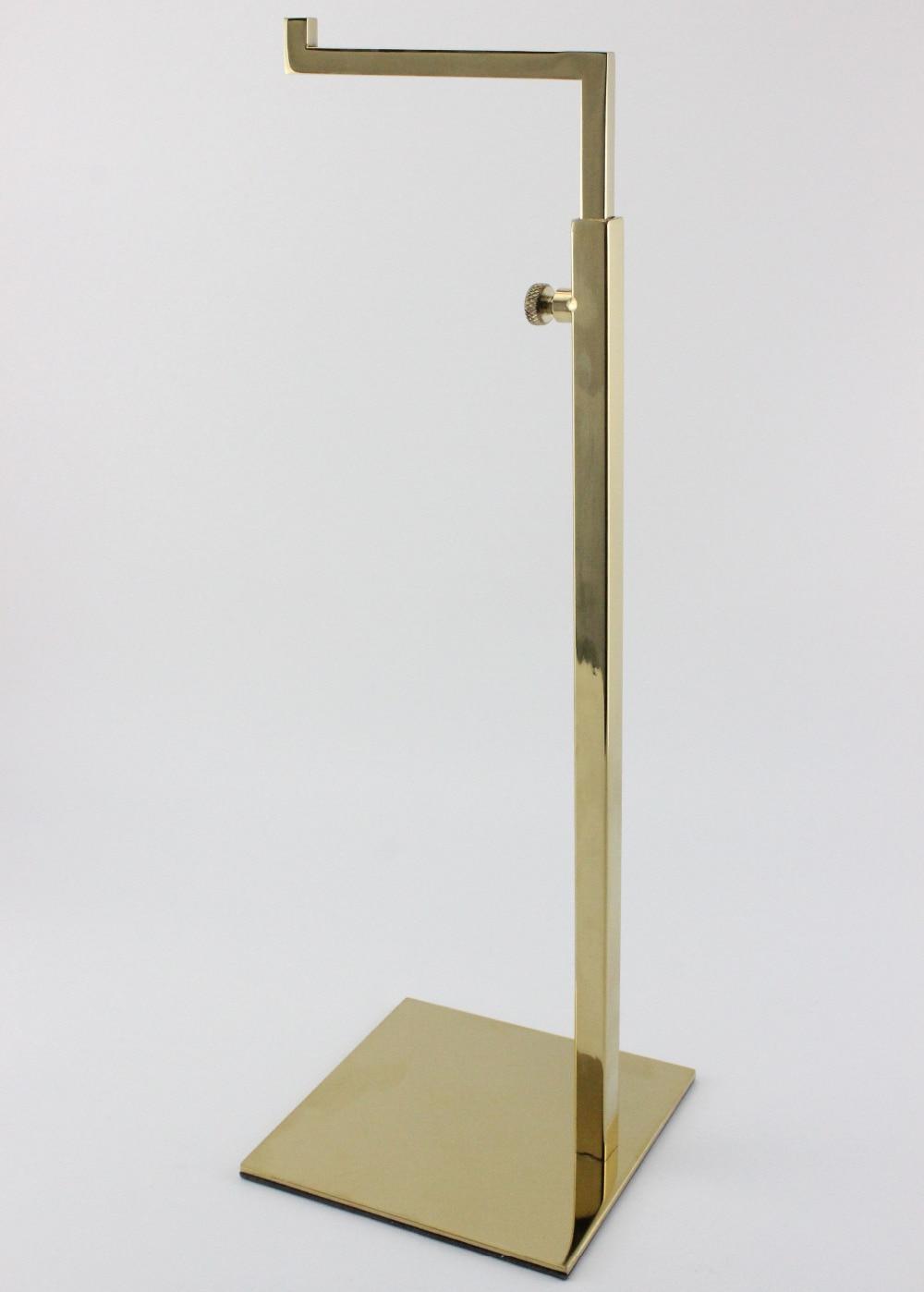 Champagne Gold Adjustable Metal Handbag <font><b>Display</b></font> Rack Women Handbag <font><b>Display</b></font> Stand Holder bag holder rack