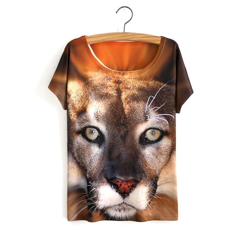 HTB1onHjOVXXXXX6XpXXq6xXFXXX6 - White Tiger 3D Print T-Shirt Women Summer Clothes