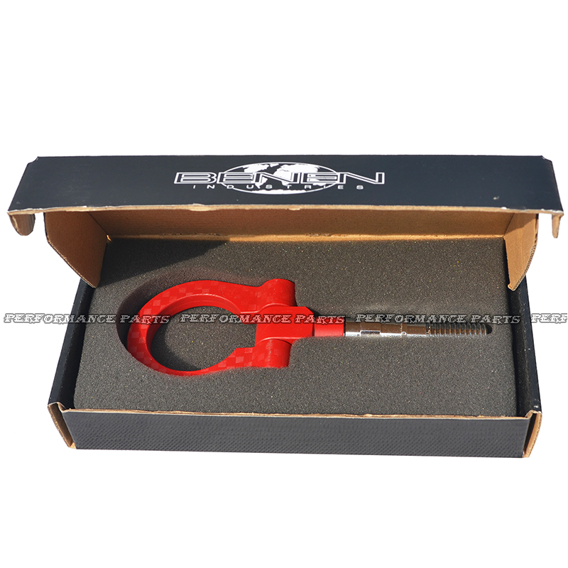Red JDM Style Car Tow Hook Aluminum Tow Eye