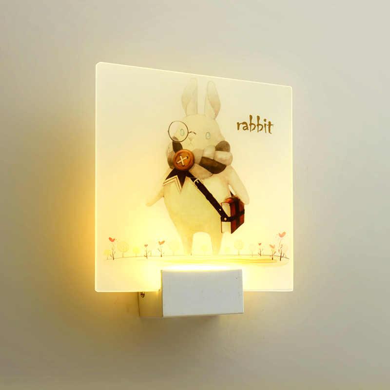 Luzes de cabeceira internas modernas da parede do diodo emissor de luz com interruptor 110 v 220 v quadrado redondo luz de parede regulável para o quarto corredor da escada lustre