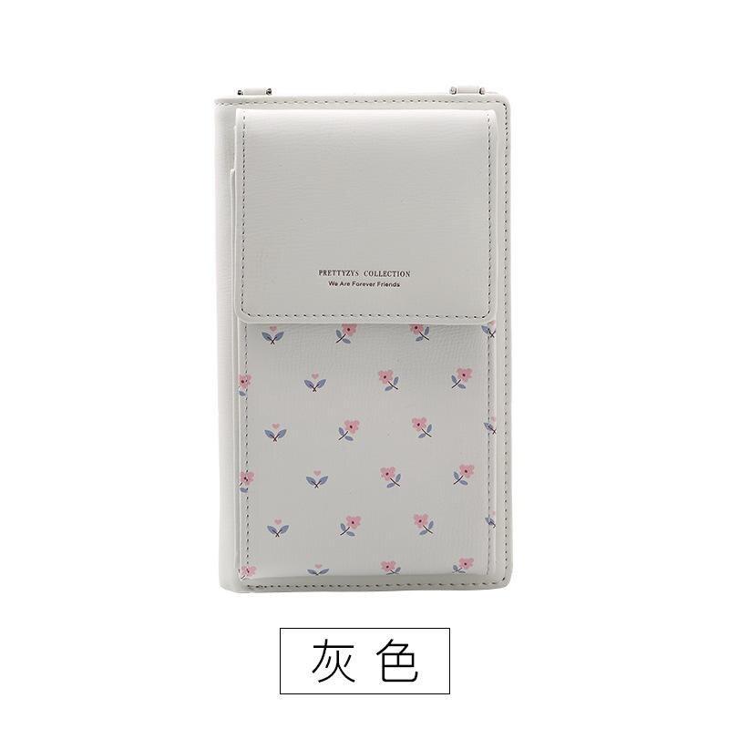 f6f03376a07e Dropwow Fashion Printing Flower Women Wallet Multifunction Phone ...