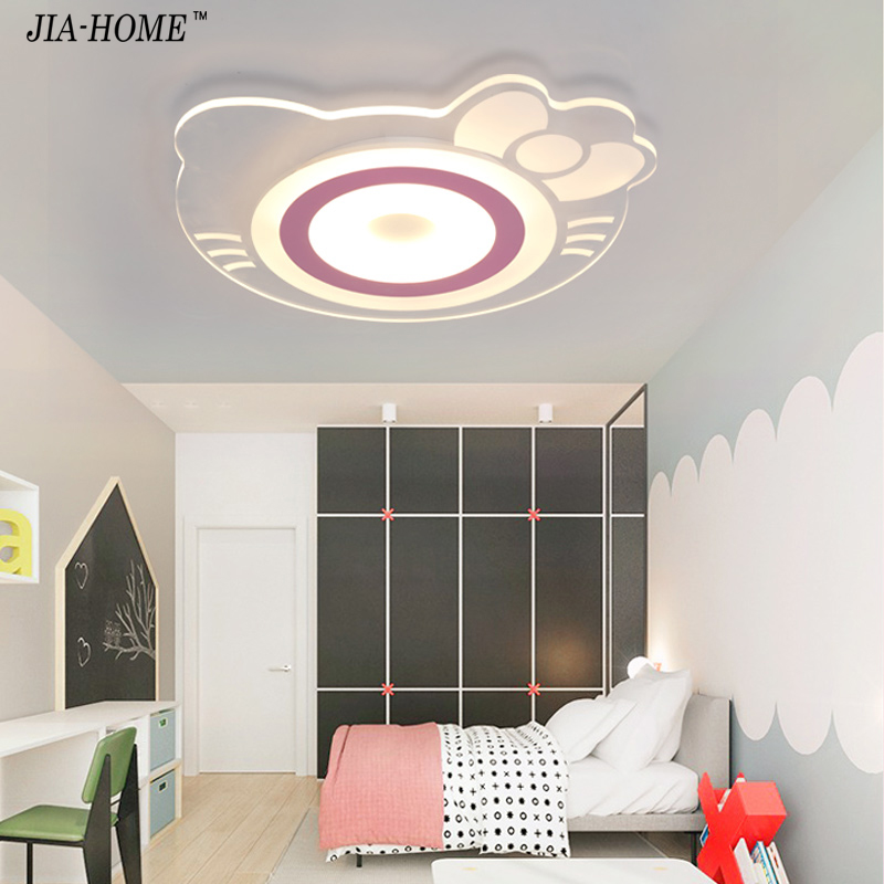 Children room ceiling mount light remote control or switch with hellokitty Acrylic boby lights in ceiling