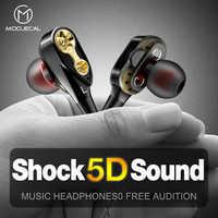 Auriculares de Doble controlador MOOJECAL en la oreja auriculares de Bajo estéreo auriculares deportivos para auriculares HIFI para xiaomi fone de ouvido auriculares Mp3