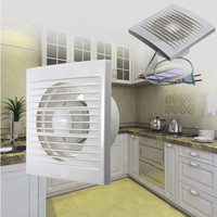 Fan Hole Size 100mm X 100mm 12W Mini Wall Window ABS Plastic Exhaust Fan Waterproof For