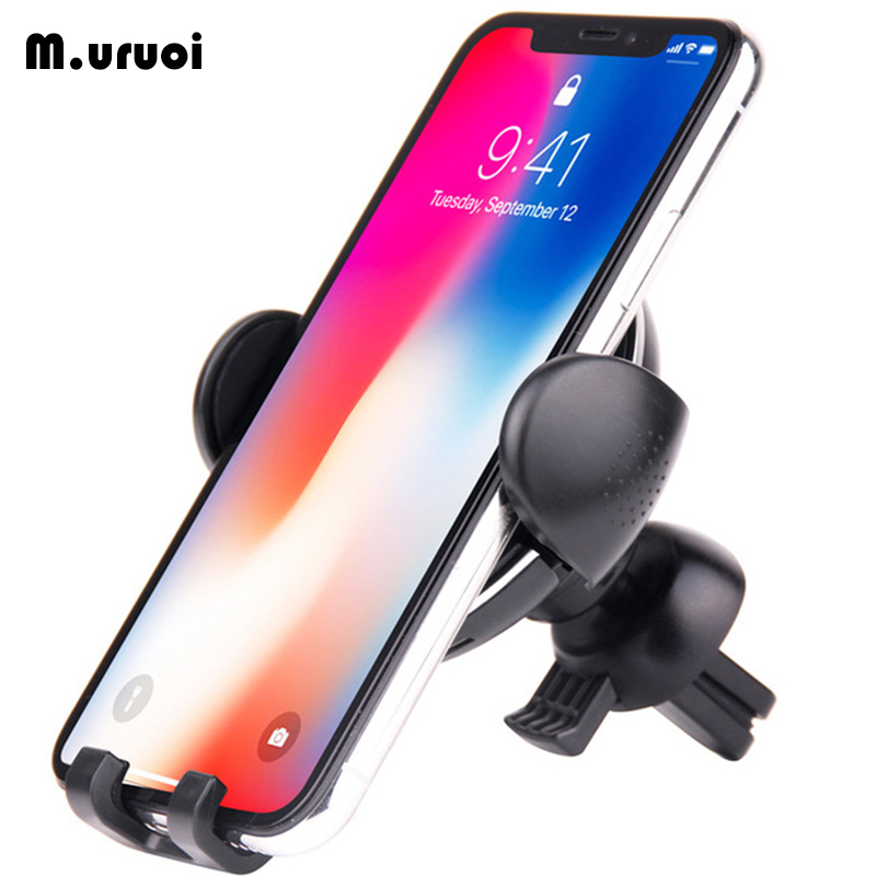 M.uruoi 10W QI Wireless Car Charger Quick Charge Charging Stand For iPhone X 8 Plus Samsung Galaxy S8 S7 Note 8 Car Stand Holder