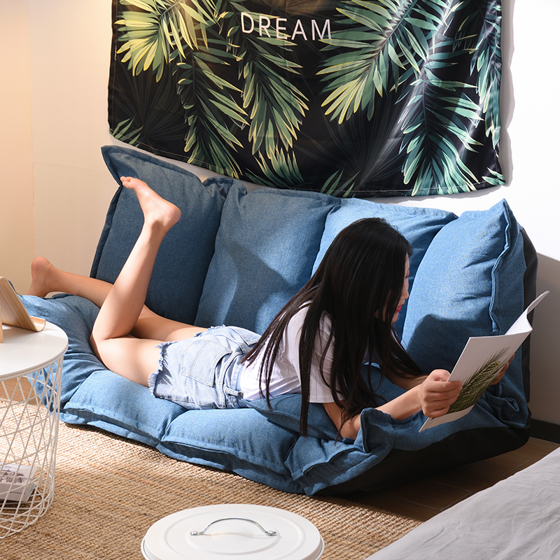 Newest Modern Design Floor Sofa Bed 5 Position Adjustable Sofa Japanese Style Furniture Living Room Reclining Folding Sofa